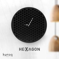 Metal duvar saati: hexagon