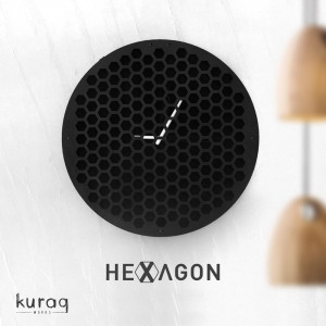 Metal duvar saati: hexagon