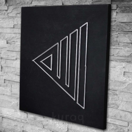 String Art: Allah Lafzı - Kaligrafik - Siyah
