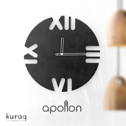 Metal duvar saati: Apollon