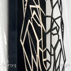 Metal ve ahşap poster : - integradeco - kurt