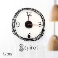 Metal duvar saati: Spiral