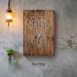String Art: Fil | Elephant
