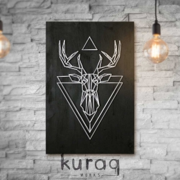 String Art: Dark Deer | Koyu Geyik