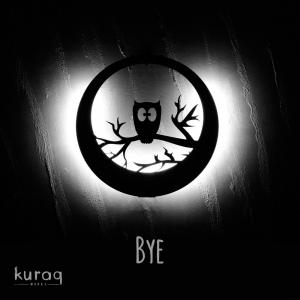 Metal poster LED : Bye