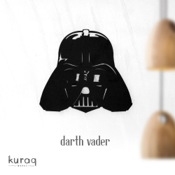 Metal poster LED : Darth Vader