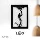 Metal poster LED : LEO