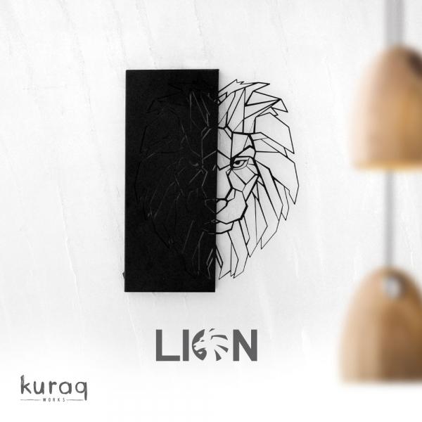 Metal poster LED : Lion
