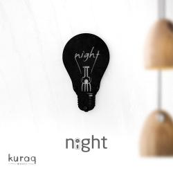 Metal poster LED : Night