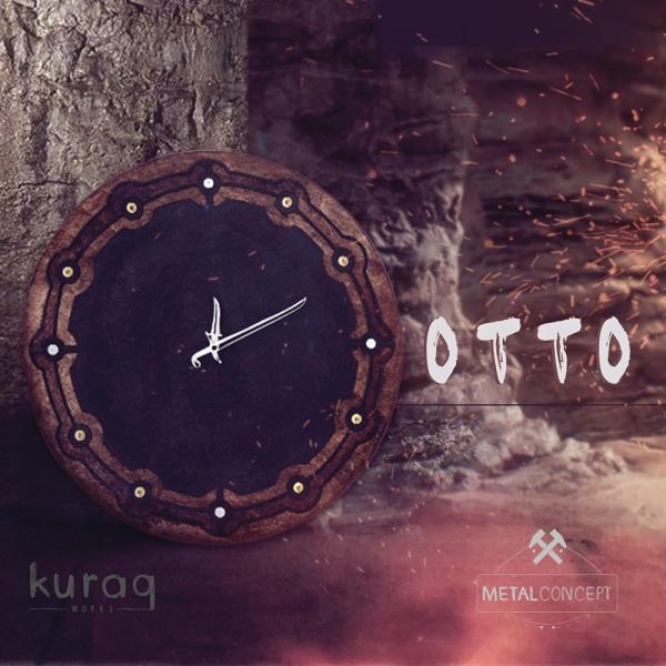 Metal - ahşap duvar saati: Otto