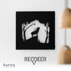 Metal poster LED : Red Deer