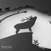 Metal poster LED : Red Deer