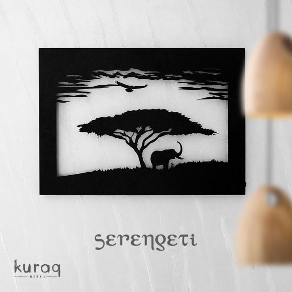 Metal poster LED : Serengeti