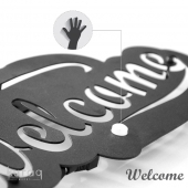 Metal poster LED : Welcome