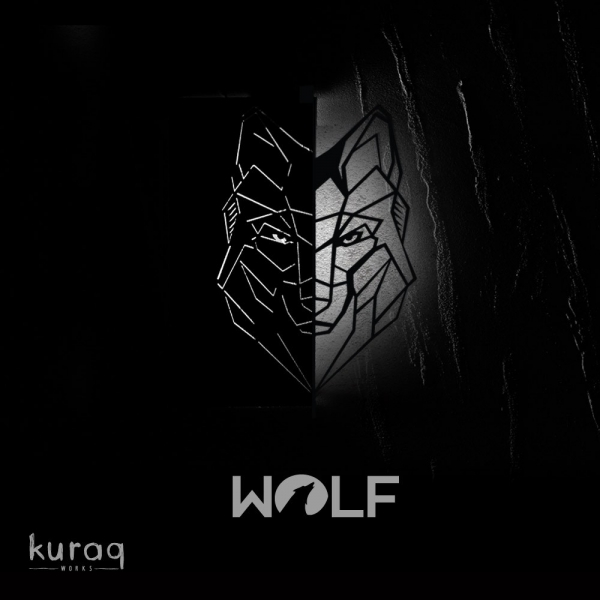 Metal poster LED : Wolf