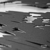 Metal not panosu poster :  Dünya Haritası Doodle